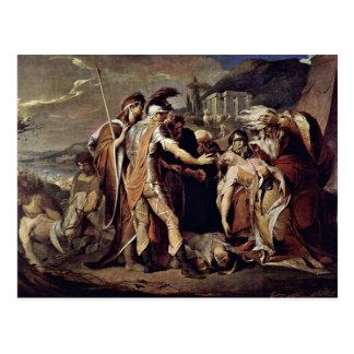 De koning Lear rouwt Cordelia door Barry James Briefkaart