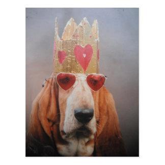 De Koning van Basset Hound van het briefkaart