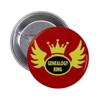 De Koning van de genealogie Buttons