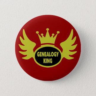 De Koning van de genealogie Ronde Button 5,7 Cm