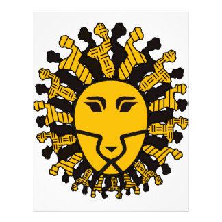 De Koning van de leeuw van Malawi Flyer 21,6 X 27,9 Cm