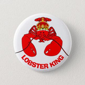 De Koning van de zeekreeft Ronde Button 5,7 Cm
