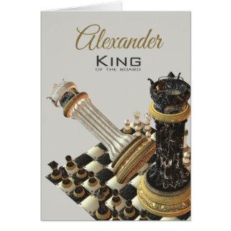 De Koning van het schaak van de Raad Briefkaarten 0