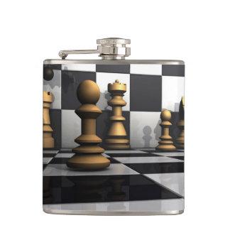 De Koning van het Spel van het schaak Heupfles