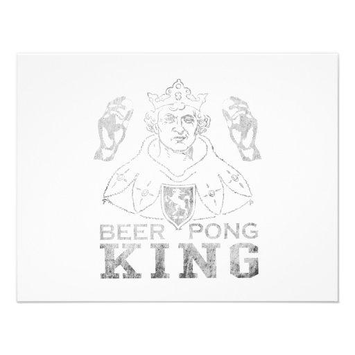 De Koning van Pong van het bier Persoonlijke Aankondiging