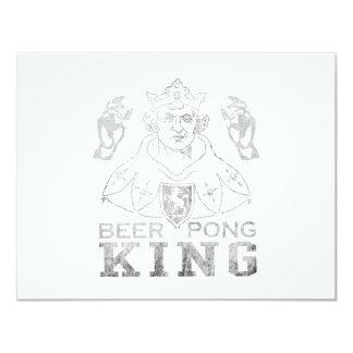 De Koning van Pong van het bier 10,8x13,9 Uitnodiging Kaart