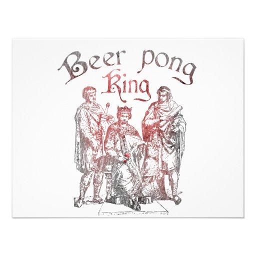 De Koningen van Pong van het bier Gepersonaliseerde Uitnodiging
