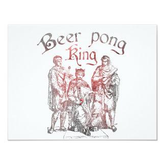 De Koningen van Pong van het bier 10,8x13,9 Uitnodiging Kaart