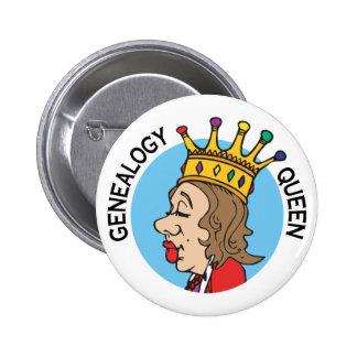 De Koningin van de genealogie Ronde Button 5,7 Cm