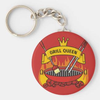 De Koningin van de grill Sleutelhanger