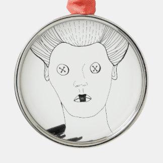 De koningin van de Knoop Zilverkleurig Rond Ornament