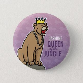 De Koningin van de leeuwin van het Oerwoud, voegt Ronde Button 5,7 Cm