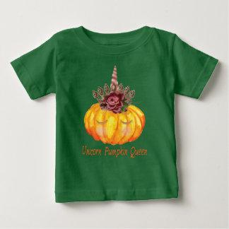 De Koningin van de Pompoen van de eenhoorn met de Baby T Shirts