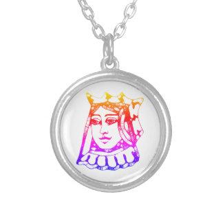 De Koningin van de regenboog Zilver Vergulden Ketting