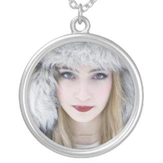 De Koningin van de sneeuw Zilver Vergulden Ketting