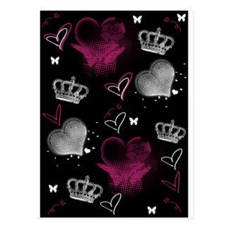 De Koningin van Girly van harten Briefkaart