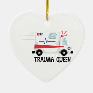 De Koningin van het trauma Keramisch Hart Ornament