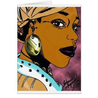 De Koningin van Nubian Briefkaarten 0