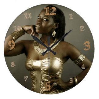 De Koningin van Nubian van Oud Egypte Grote Klok