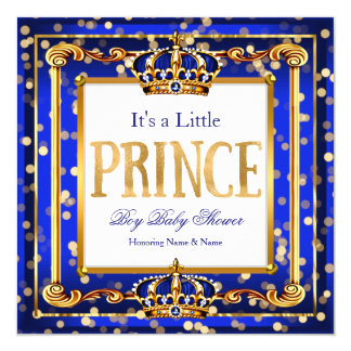 De Koningsblauwen Gouden Bokeh van het Baby shower Kaart