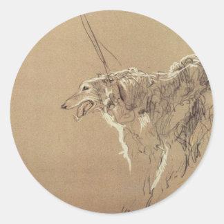 De koninklijke jacht van de windhond door Valentin Ronde Sticker