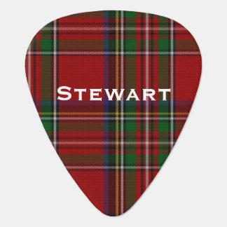 De koninklijke Oogst van Stewart Tartan Plaid Plectrum