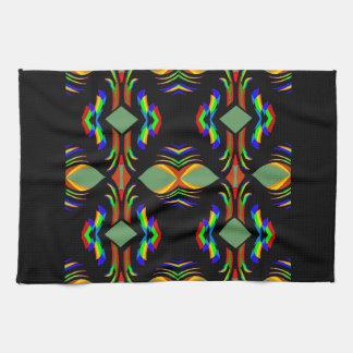 De koninklijke op-zwarte Kleuren van de Regenboog Theedoek