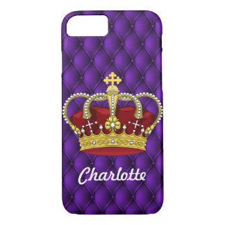 De koninklijke Paarse & Kroon van de Koningin met iPhone 8/7 Hoesje