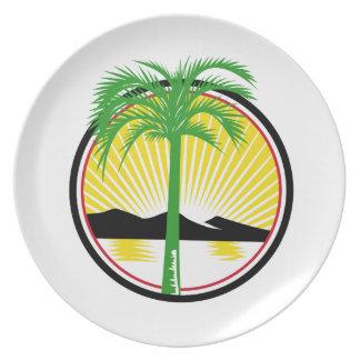 De koninklijke Retro Berg van het Zee van het Palm Melamine+bord