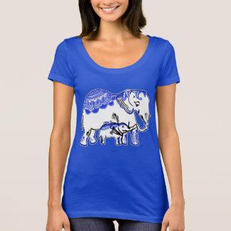 De Koninklijke T-shirt van de Hals van de Lepel