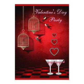 De Kooien van de Vogels van de Partij van 12,7x17,8 Uitnodiging Kaart