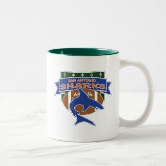 De Koopwaar van haaien Tweekleurige Koffiemok