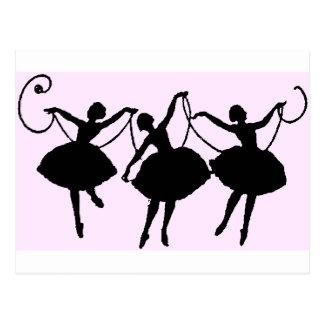 De koopwaar van het ballet briefkaart