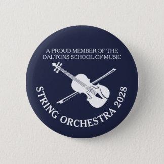 De koordenorkest gepersonaliseerd kenteken van de ronde button 5,7 cm