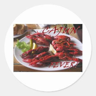 De Koorts van Cajun! Ronde Sticker