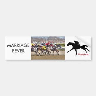 De Koorts van het huwelijk & Oude Parvenu Bumpersticker