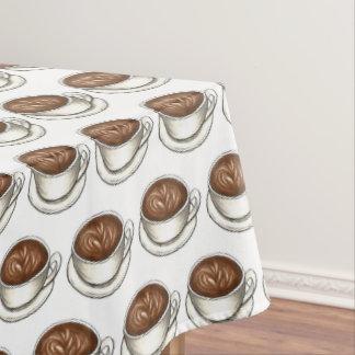 De Kop Latte Barista van de Winkel van de Koffie Tafelkleed