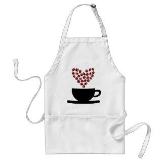 De Kop van de koffie en het Hart van de Boon van Standaard Schort