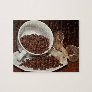 De Kop van de koffie met Bonen Puzzel