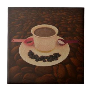 De Kop van de koffie met Happen van Donkere Tegeltje