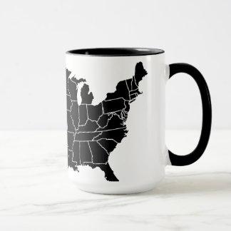 De Kop van de Koffie van de Kaart van Verenigde