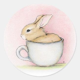 De Kop van de thee Ronde Sticker