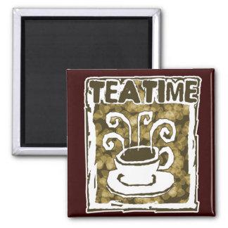 De Kop van de Tijd van de thee met Stoom Magneet