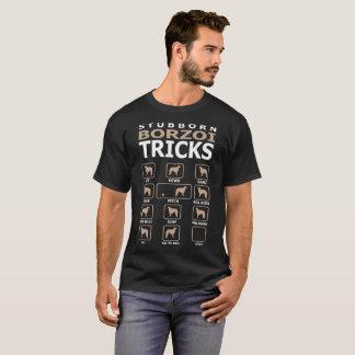 De koppige Hond Borzoi bedriegt Grappige T-shirt