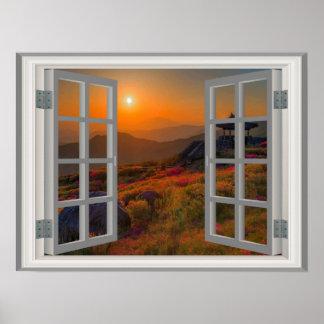 De Koreaanse Zonsondergang van de Herfst van het Poster