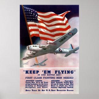 De Korpsen die van de Lucht van het leger Poster