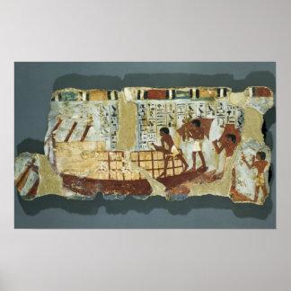 De korrel van de lading, van het Graf van Unsou, h Poster
