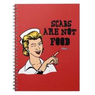 De korsten zijn geen Voedsel Ringband Notitieboek
