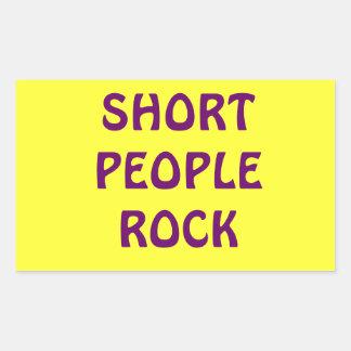 De korte Mensen schommelen sticker