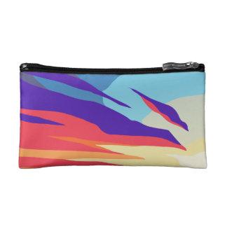 De Kosmetische Zak van de abstracte Zonsondergang Make-up Bag